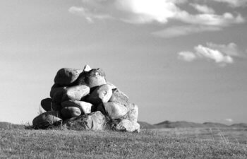 Raising our Ebenezer - image of a cairn of stones