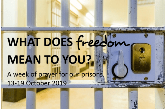 Prisons Week 2019 - what does freedom mean to you?