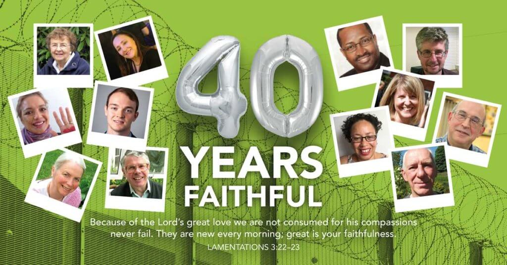 40 Years Faithful - invitation