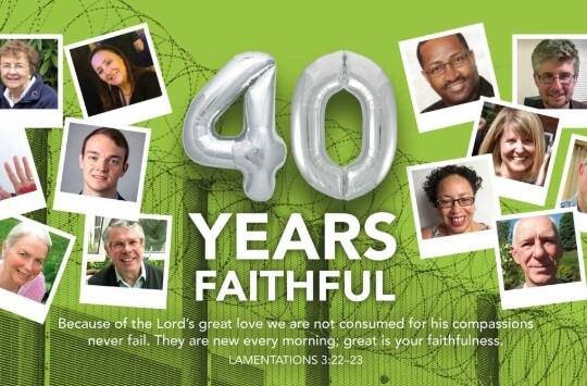40 Years Faithful - invitation